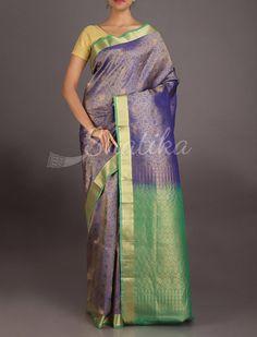 Vedika Metallic Subtle Designed Stylish #CoimbatoreSilkSaree