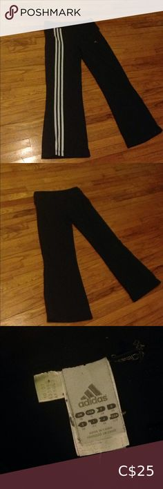 Adidas Workout Yoga Pants These are extremely stretchy and fit the waist really nicely. They are perfect for short girls because they fit nicely at the ankles. Girls 4, Short Girls, Wardrobe Sale, Good Brands, Adidas Pants, Black Adidas, Adidas Logo, Yoga Pants, Adidas Women