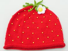 PDF KNITTING PATTERN  The Sweet Strawberry baby by SuffolkThreads, $4.00