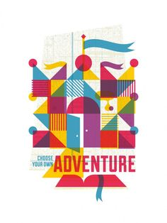 Adventure: limited edition screen printed art inspired by old childrens books. $40.00, via Etsy.