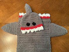 Crochet NB Baby Shark Cocoon and Hat Set Photo Prop Baby | Etsy Owl, Crochet Bebe, Baby Shark, Handmade Baby, Photo Props, Baby Gifts, Dinosaur Stuffed Animal, Arms, Costumes