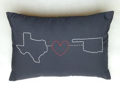 New State Love Pillow in Black!