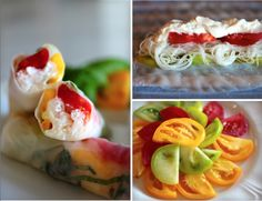 Recipe: Summer Rolls, Caprese-Style (tomato, burrata cheese, basil, rice noodle)