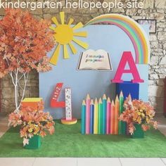 Pupils happy holiday you ! This bright photozone is waiting for you at photozone - New Deko Sites Graduation Decorations, School Decorations, School Themes, Diy Game, Country Chicken, Kindergarten Graduation, School Photos, School Parties, Art Party