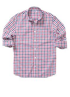 Check Republic - Navy & Red shirt - Bonobos