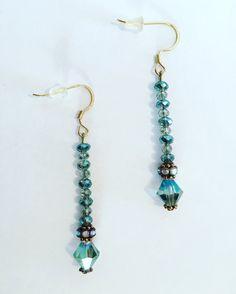 Glass Bead Earrings by OpalessenceStudio on Etsy #glassbeads #earrings
