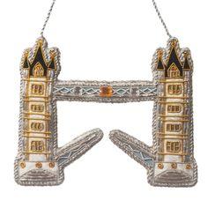 Embroidered Christmas Ornaments, Christmas Ornaments To Make, London Bridge, Tower Of London, Felt Decorations, Christmas Tree Decorations, Famous Historical Figures, Fabric Glue, Fabric Beads