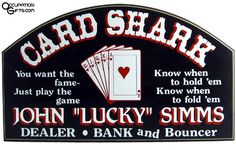 Poker Sign- Personalized