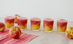 Peach Raspberry Sunrise Smoothie