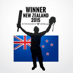 Vector Free Download, Free Vector Graphics, Cricket World Cup Winners, Icc Cricket, Vector Design, New Zealand, News