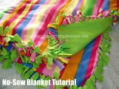 no sew fleece blanket w/scraps used to make the name | GET THE ... : no sew quilt instructions - Adamdwight.com