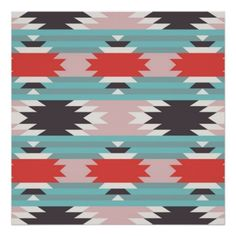 Native American Art Prints | Aztec Tribal Pattern Native American Prints from Zazzle.com
