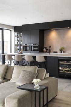 My Kitchen Rules, Open Plan Kitchen, Home Decor Kitchen, Kitchen Living, Kitchen Interior, New Kitchen, Home Interior Design, Home Kitchens, Küchen Design