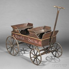 Paint-decorated Wooden Wagon | Sale Number 2757B, Lot Number 507 | Skinner Auctioneers