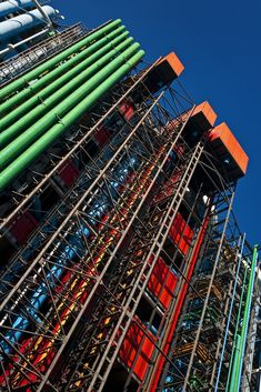 Pompidou Centre by Renzo Piano and Richard Rogers. The concept was to create a flexible and adaptable space internally for people and culture to shelter, the services are placed on the external facade of the building producing its aesthetic.