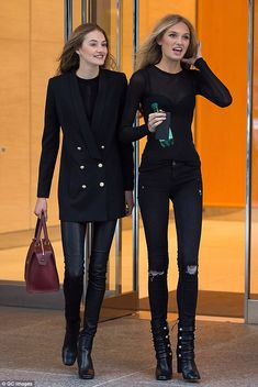 Girlfriends: Romee chatted with fellow Dutch angel Sanne Vloet as they exited the fitting...