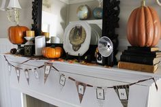 A Halloween Mantel- Itsy Bits And Pieces