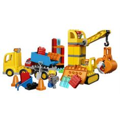 LEGO DUPLO Big Construction Site 10813 Building Set with Toy Dump Truck, Toy Crane and Toy Bulldozer for a complete Toddler Construction Toy Set Pieces) Lego Shop, Buy Lego, Large Building Blocks, Lego Building, Lego Duplo Town, Lego City, Lego Dimensions, Star Wars Saga, Toys