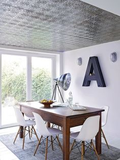 Livingetc  It's the tin ceiling that got us excited about this family home in North London, featured in the January issue of Livingetc, on sale Thursday. What original features would you aspire to in a property?