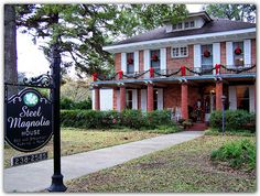 """The home in Natchitoches, Louisiana where many of the scenes in the movie """"Steel Magnolias"""" were filmed is a Bed & Breakfast called the Steel Magnolia House - it was built in the 1830's along the Cane River"""