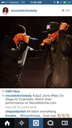 Jay Z Nas #kings How awesome is this?