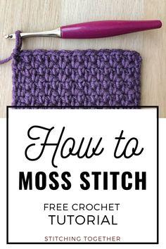 Crotchet Stitches, Crochet Stitches Patterns, Knitting Stitches, Crochet Instructions, Crochet Diagram, Crochet Basics, Crochet 101, Crochet Symbols, Linen Stitch