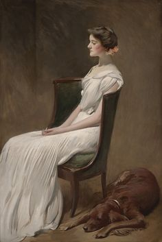 John White Alexander (American, 1856-1915) : Miss Dorothy Quincy Roosevelt (later Mrs. Langdon Geer), 1901-1902, Dallas Museum of Art,