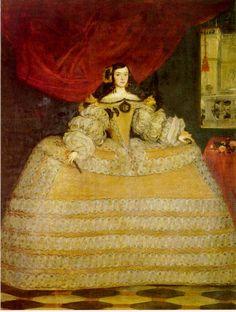 Doña Francisca de Velasco, Marquesa de Santa Cruz. Lienzo: 2,40 x 1,82 m.  Firmado: «J. Carreño fet. 16...» (1665-1670). MADRID. Marqueses de Santa Cruz. Juan Carreño de Miranda 1614—1685