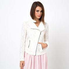Veste dentelle zippée style motard Button Downs, Dressing, Lifestyle, Jackets, Blazers, Coats, Club, Women, Fashion