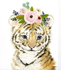 What is Your Painting Style? How do you find your own painting style? What is your painting style? Watercolor Tiger, Watercolor Animals, Watercolor Paintings, Body Painting, Animal Paintings, Animal Drawings, Cute Drawings, Nursery Paintings, Safari Nursery