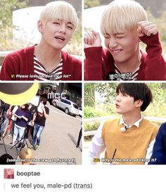 I don't know if V doing aegyo is cuter or suga getting cranky cuter