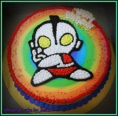 ultraman rainbow cake