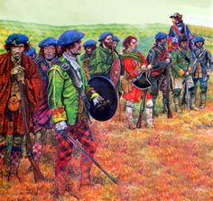 Jacobite Highland infantry at Culloden. The Alba Hussar invites you to #comejoinourCampaign. Visit: www.jacobitetours.co.uk
