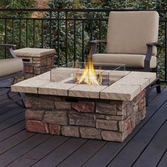 Real Flame Sedona Square Gas Fire Table - C11811LP-BF