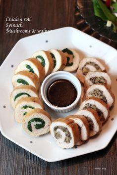 クリスマスにも使えるチキンロール2種 - 1ヶ月2万円の節約レシピ (マイティのブログ)