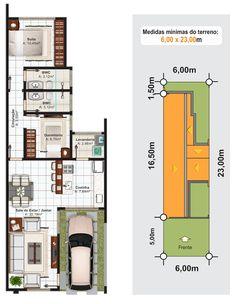 Planta baixa e terreno: casa Sorocaba