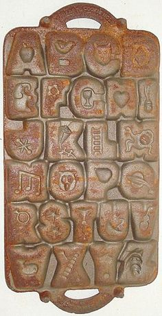 Vintage Cast Iron Alphabet Cookie Mold