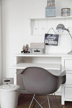 Ideas oficina decoración |  Mooi hoekje met bureau