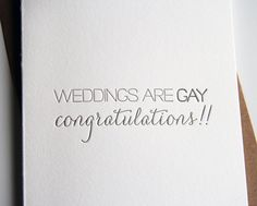 Weddings Are Gay | Steel Petal Press
