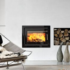 Morsø 5660 Fireplace Insert - Atmost Stoves and Fireplaces Inset Fireplace, Wood Burner Fireplace, Wood Burning Fireplace Inserts, Fireplace Ideas, Modern Mantle, Modern Fireplace, Morso Wood Stove, Wood Supply, Air Supply