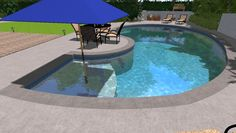Small Pools For Small Backyards Evalotte Daily Home: Backyard Landscape Design Backyard Ideas For Small Yards, Backyard Pool Landscaping, Small Backyard Landscaping, Landscaping Ideas, Sloped Backyard, Modern Backyard, Swimming Pools Backyard, Swimming Pool Designs, Lap Pools