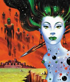 Lorelei of the Red Mist Cover art by Frank Kelly Freas for the sci-fi story by Ray Bradbury & Leigh Brackett - Tops in Science Fiction (Autumn Sci Fi Kunst, Comic Kunst, Fantasy Kunst, Sci Fi Fantasy, Aliens, Cover Art, Ufo, Science Fiction Kunst, Arte Sci Fi