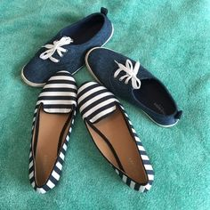 Blue Shoe Bundle! Both have been lightly worn with no significant signs of wear. Both size 8 and from Old navy! Super cute! Old Navy Shoes Flats & Loafers