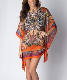 Another great find on #zulily! Orange Peacock Cover-Up by Paradise USA Fashion #zulilyfinds