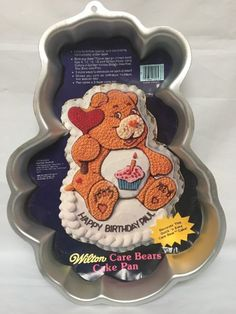 Care Bears Birthday Bear 1983 Original Wilton Cake Pan With Instructions EUC | eBay