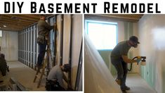 Affordable DIY Framing, Drywall, & Paint // How To Basement Remodel Video Sponsored By Lowes. Easy and affordable DIY basement remodel where I tear out old & dated bas Drywall Mud, Drywall Screws, Basement Remodel Diy, Basement Remodeling, Basement Ideas, Laminate Flooring Colors, Dewalt Drill, Basement Windows, Vinyl Sheets