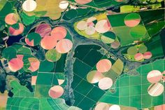 Fields near the city of Perdizes, in the Minas Gerais state of Brazil, seen in a 2011 astronaut photograph. #world