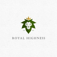 42 chronic weed logos and marijuana packaging ideas. Royal Highness by cinj using a pot leaf as the lion's mane. #cannabis #branding #design