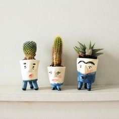 Give your plants some personality with these DIY mini face planters! All you need is clay, paint and a little imagination.