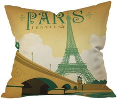 DENY Designs Anderson Design Group Paris Throw Pillow 18 x 18 * Home decor details can be found by clicking on the image.